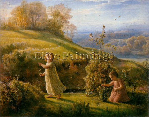 LOUIS JANMOT LE POEME DE L AME 4 LE PRINTEMPS ARTIST PAINTING REPRODUCTION OIL