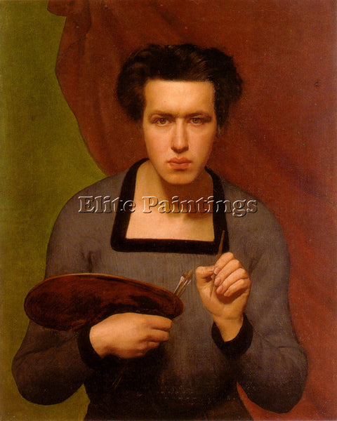 LOUIS JANMOT PORTRAIT DE L ARTISTE ARTIST PAINTING REPRODUCTION HANDMADE OIL ART