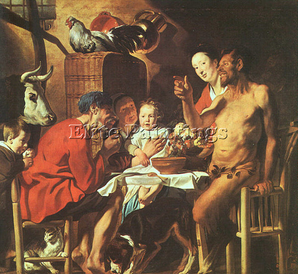 JACOB JORDAENS JORDA4 ARTIST PAINTING REPRODUCTION HANDMADE OIL CANVAS REPRO ART