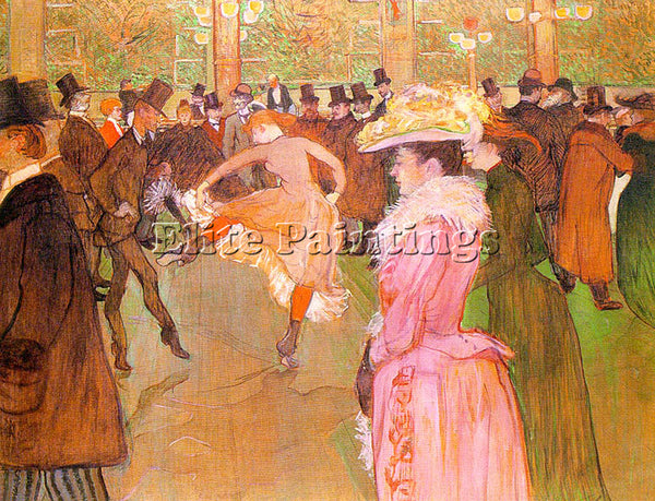 HENRI DE TOULOUSE-LAUTREC TLAU7 ARTIST PAINTING REPRODUCTION HANDMADE OIL CANVAS