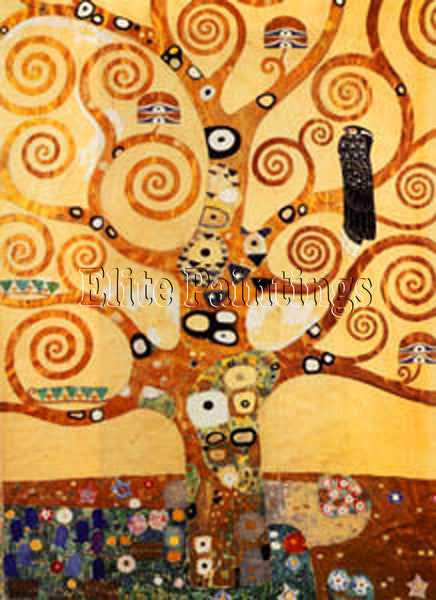 FAMOUS PAINTINGS LIFE TREE MIDDLE PART HI ARTIST PAINTING REPRODUCTION HANDMADE
