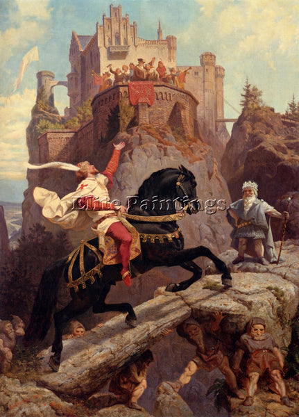 EMANUEL GOTTLIEB LEUTZE THE KNIGHT O ARTIST PAINTING REPRODUCTION HANDMADE OIL
