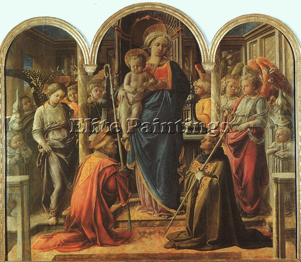 FRA FILIPPO LIPPI LIP19 ARTIST PAINTING REPRODUCTION HANDMADE CANVAS REPRO WALL