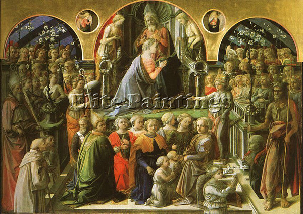 FRA FILIPPO LIPPI LIP24 ARTIST PAINTING REPRODUCTION HANDMADE CANVAS REPRO WALL