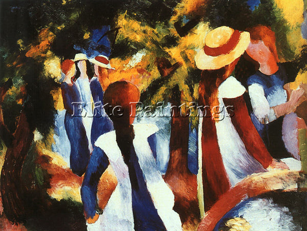 AUGUST MACKE MACKE10 ARTIST PAINTING REPRODUCTION HANDMADE OIL CANVAS REPRO WALL