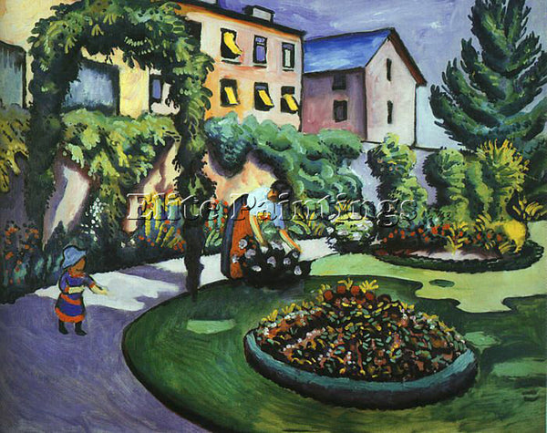 AUGUST MACKE MACKE14 ARTIST PAINTING REPRODUCTION HANDMADE OIL CANVAS REPRO WALL