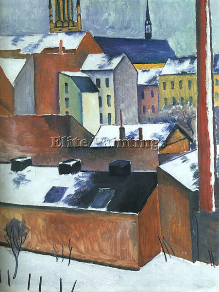 AUGUST MACKE MACKE16 ARTIST PAINTING REPRODUCTION HANDMADE OIL CANVAS REPRO WALL