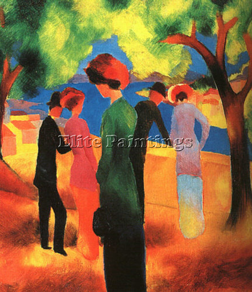AUGUST MACKE MACKE1 ARTIST PAINTING REPRODUCTION HANDMADE CANVAS REPRO WALL DECO