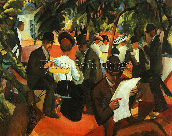AUGUST MACKE MACKE22 ARTIST PAINTING REPRODUCTION HANDMADE OIL CANVAS REPRO WALL