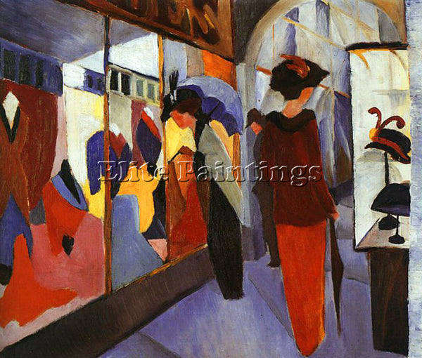 AUGUST MACKE MACKE24 ARTIST PAINTING REPRODUCTION HANDMADE OIL CANVAS REPRO WALL