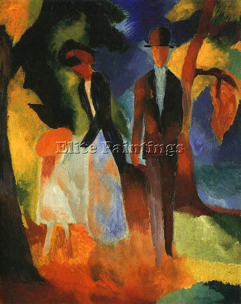 AUGUST MACKE MACKE26 ARTIST PAINTING REPRODUCTION HANDMADE OIL CANVAS REPRO WALL