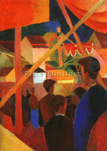 AUGUST MACKE MACKE27 ARTIST PAINTING REPRODUCTION HANDMADE OIL CANVAS REPRO WALL