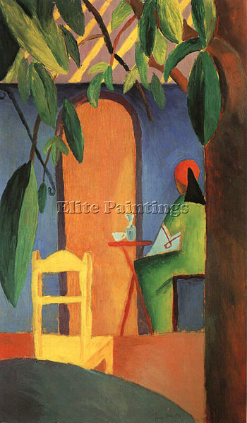 AUGUST MACKE MACKE28 ARTIST PAINTING REPRODUCTION HANDMADE OIL CANVAS REPRO WALL
