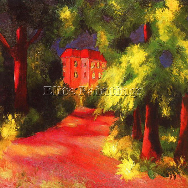 AUGUST MACKE MACKE29 ARTIST PAINTING REPRODUCTION HANDMADE OIL CANVAS REPRO WALL