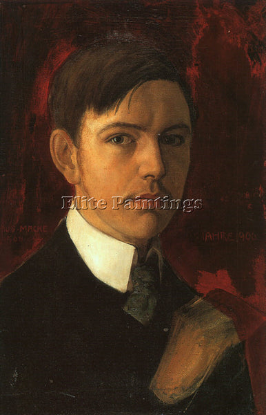 AUGUST MACKE MACKE2 ARTIST PAINTING REPRODUCTION HANDMADE CANVAS REPRO WALL DECO