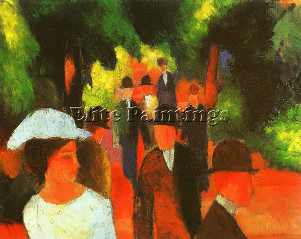 AUGUST MACKE MACKE30 ARTIST PAINTING REPRODUCTION HANDMADE OIL CANVAS REPRO WALL