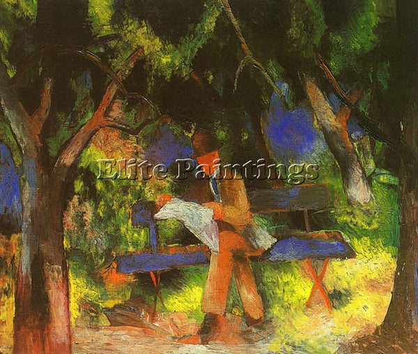 AUGUST MACKE MACKE31 ARTIST PAINTING REPRODUCTION HANDMADE OIL CANVAS REPRO WALL