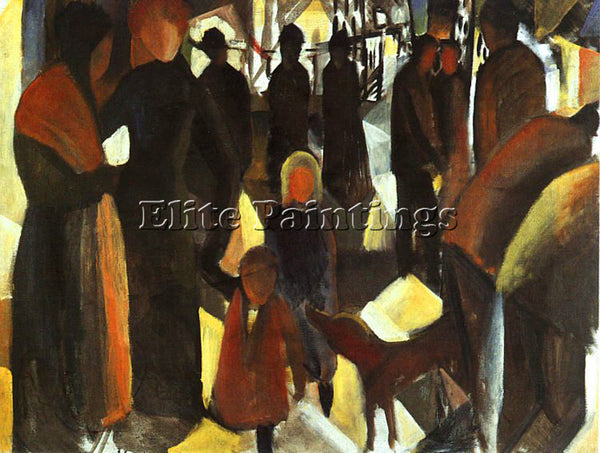 AUGUST MACKE MACKE32 ARTIST PAINTING REPRODUCTION HANDMADE OIL CANVAS REPRO WALL