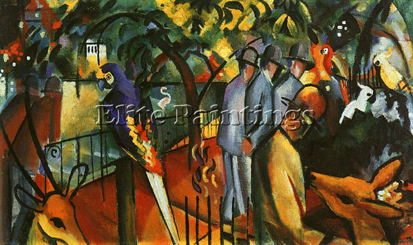 AUGUST MACKE MACKE33 ARTIST PAINTING REPRODUCTION HANDMADE OIL CANVAS REPRO WALL