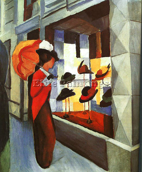 AUGUST MACKE MACKE34 ARTIST PAINTING REPRODUCTION HANDMADE OIL CANVAS REPRO WALL