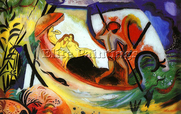 AUGUST MACKE MACKE37 ARTIST PAINTING REPRODUCTION HANDMADE OIL CANVAS REPRO WALL