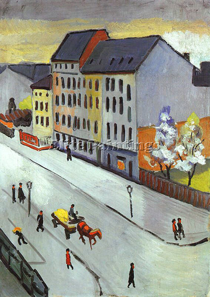 AUGUST MACKE MACKE38 ARTIST PAINTING REPRODUCTION HANDMADE OIL CANVAS REPRO WALL