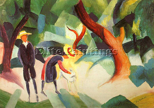 AUGUST MACKE MACKE39 ARTIST PAINTING REPRODUCTION HANDMADE OIL CANVAS REPRO WALL