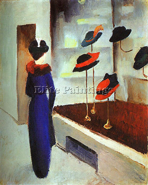 AUGUST MACKE MACKE40 ARTIST PAINTING REPRODUCTION HANDMADE OIL CANVAS REPRO WALL