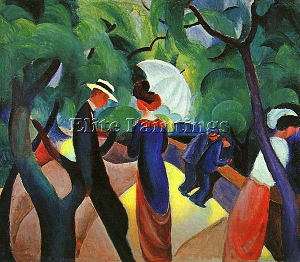 AUGUST MACKE MACKE41 ARTIST PAINTING REPRODUCTION HANDMADE OIL CANVAS REPRO WALL