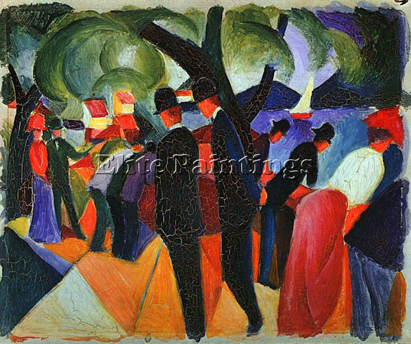 AUGUST MACKE MACKE42 ARTIST PAINTING REPRODUCTION HANDMADE OIL CANVAS REPRO WALL