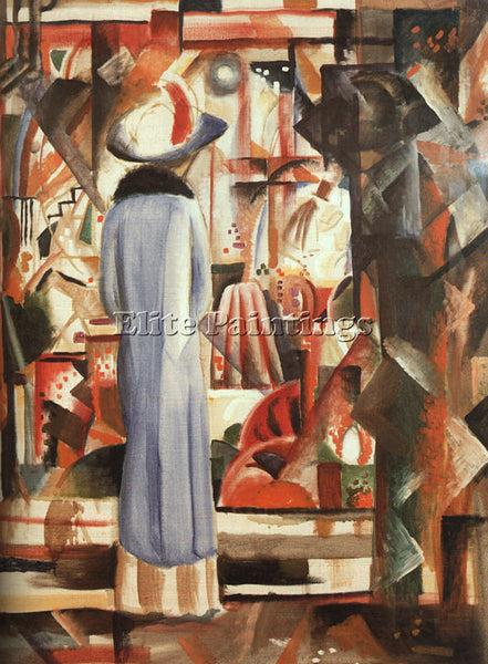 AUGUST MACKE MACKE6 ARTIST PAINTING REPRODUCTION HANDMADE CANVAS REPRO WALL DECO