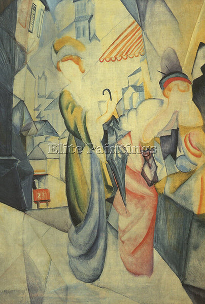 AUGUST MACKE MACKE7 ARTIST PAINTING REPRODUCTION HANDMADE CANVAS REPRO WALL DECO