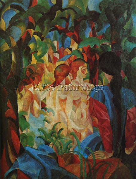 AUGUST MACKE MACKE8 ARTIST PAINTING REPRODUCTION HANDMADE CANVAS REPRO WALL DECO