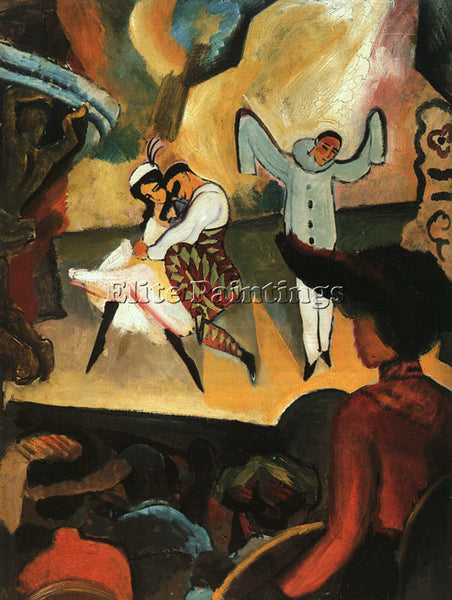 AUGUST MACKE MACKE9 ARTIST PAINTING REPRODUCTION HANDMADE CANVAS REPRO WALL DECO