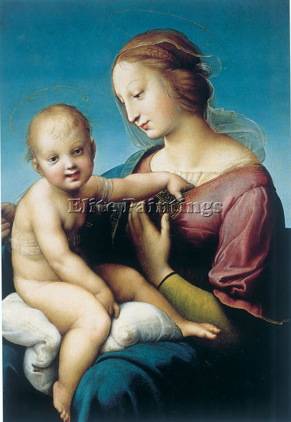 RAFFAELLO MADONNA COWPER ARTIST PAINTING REPRODUCTION HANDMADE CANVAS REPRO WALL