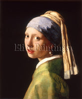 FAMOUS PAINTINGS GIRL PEARL HI ARTIST PAINTING REPRODUCTION HANDMADE OIL CANVAS
