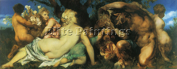 HANS MAKART THE HARVEST ARTIST PAINTING REPRODUCTION HANDMADE CANVAS REPRO WALL