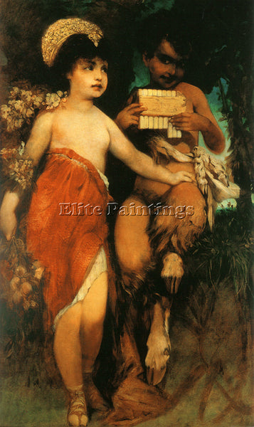 HANS MAKART FAUN AND NYMPH PAN AND FLORA ARTIST PAINTING REPRODUCTION HANDMADE