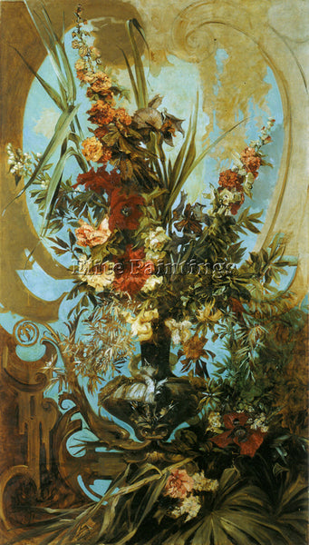 HANS MAKART BIG BOUQUET ARTIST PAINTING REPRODUCTION HANDMADE CANVAS REPRO WALL