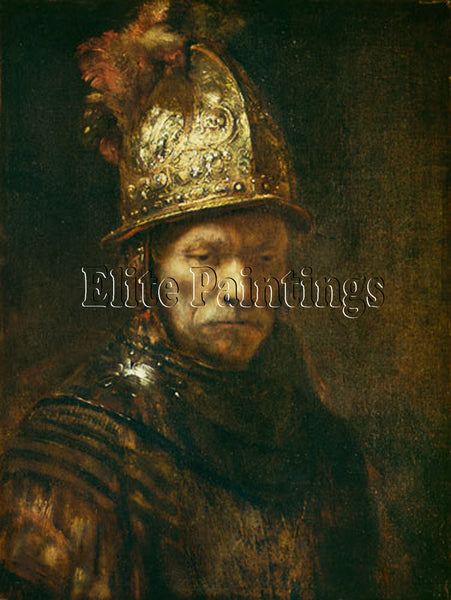 FAMOUS PAINTINGS MAN WITH GOLD HELMET ARTIST PAINTING REPRODUCTION HANDMADE OIL