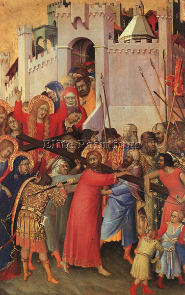 SIMONE MARTINI SMI2 ARTIST PAINTING REPRODUCTION HANDMADE CANVAS REPRO WALL DECO