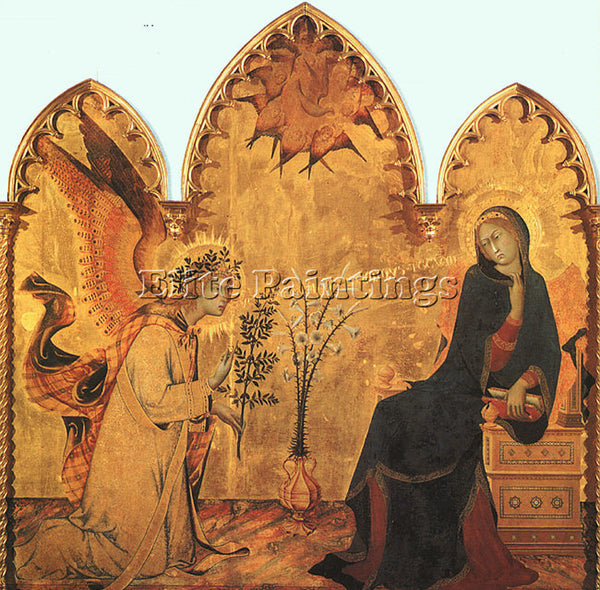 SIMONE MARTINI SMI3 ARTIST PAINTING REPRODUCTION HANDMADE CANVAS REPRO WALL DECO