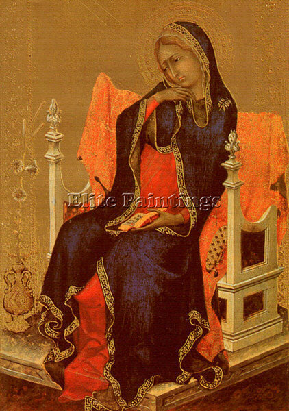 SIMONE MARTINI SMI4 ARTIST PAINTING REPRODUCTION HANDMADE CANVAS REPRO WALL DECO