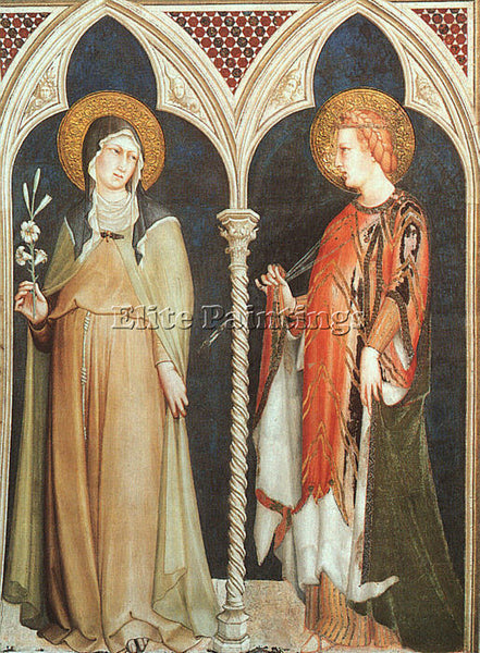 SIMONE MARTINI SMI9 ARTIST PAINTING REPRODUCTION HANDMADE CANVAS REPRO WALL DECO