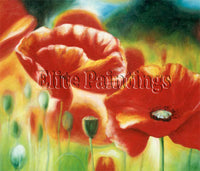 FAMOUS PAINTINGS POPPIES 1 NEW ARTIST PAINTING REPRODUCTION HANDMADE OIL CANVAS