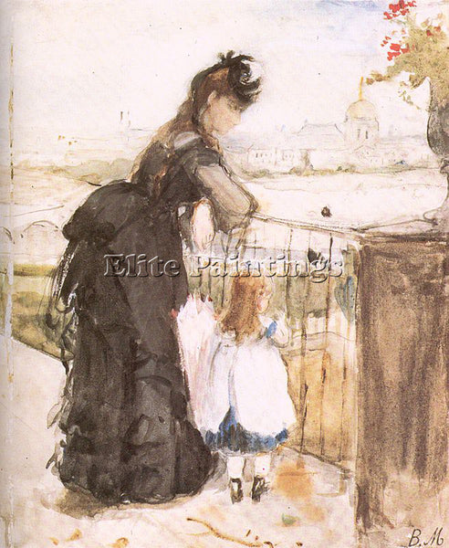 BERTHE MORISOT MOR6 ARTIST PAINTING REPRODUCTION HANDMADE CANVAS REPRO WALL DECO