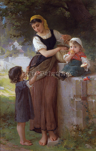 EMILE MUNIER 1880 1 MAY I HAVE ONE TOO ARTIST PAINTING REPRODUCTION HANDMADE OIL