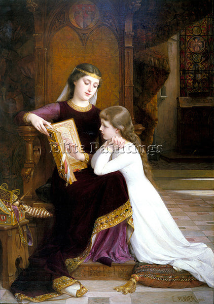 EMILE MUNIER 1888 02 AUTREFOIS ARTIST PAINTING REPRODUCTION HANDMADE OIL CANVAS