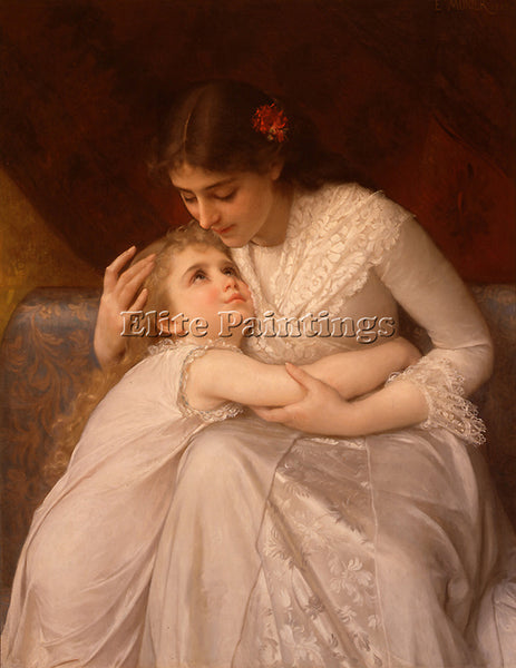EMILE MUNIER 1888 03 PARDON MAMA ARTIST PAINTING REPRODUCTION HANDMADE OIL REPRO