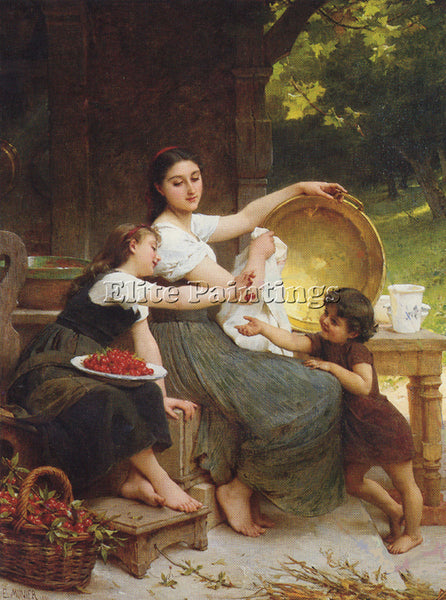 EMILE MUNIER 1891 1 LES CONFITURES ARTIST PAINTING REPRODUCTION HANDMADE OIL ART